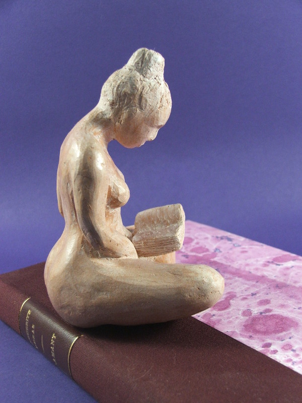 Daily Sculpture Lectrice l'amant terre cuite